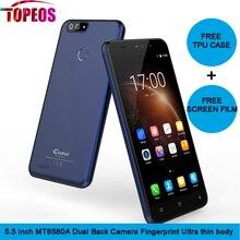 Гретель S55 5.5 дюймов quad core android 7.0 мобильный телефон 1 ГБ Оперативная память 16 ГБ Встроенная память MT6580A 1.3 ГГц 8MP двойной Cam WCDMA GPS смартфон