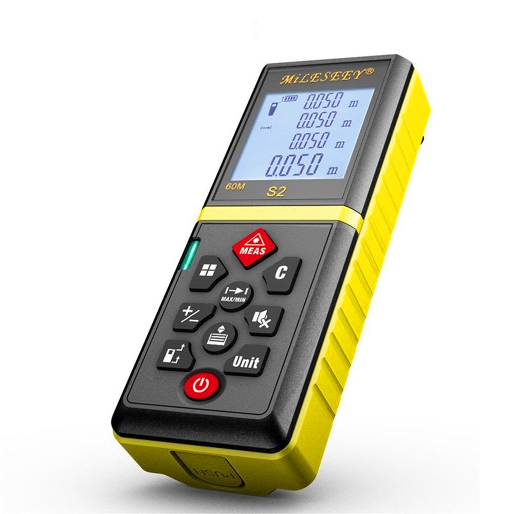 Mileseey s2 60m laser rangefinder measuring tool laser distance meter Mute Button diastimeter Yellow [randomtext category=