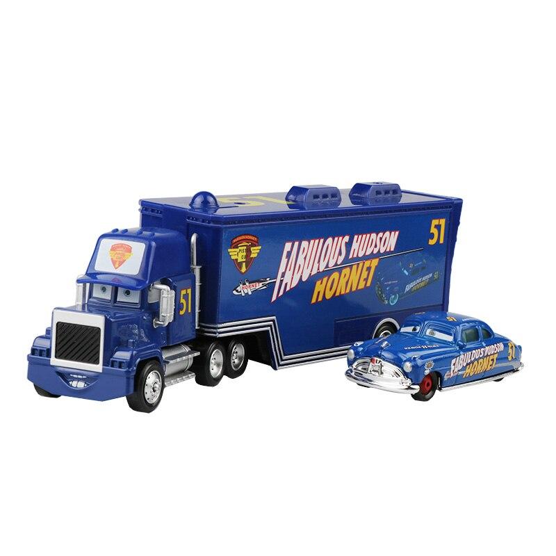 Дисней Pixar Тачки 2 3 игрушки Молния Маккуин Джексон шторм мак грузовик 1:55 литая модель автомобиля игрушка детский подарок на день рождения - Цвет: Two cars F