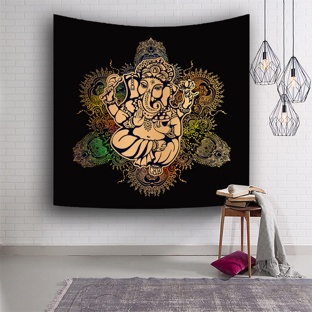 Indian Idol Digital Printing Tapestry Wall Decorative Hanging Cloth Fashion Yoga Background Sport Room Decor Bar Hotel