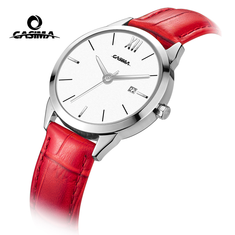 Relogio Feminino CASIMA Women Watches Ladies Fashion Waterproof Leather Quartz Wrist Watch Clock Woman Reloj Mujer Montre Femme адаптер аудио hama h 43368 jack 3 5 f jack 6 3 m черный [00043368]