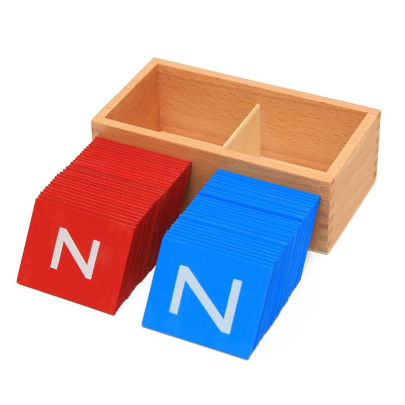 Nouveau bébé jouets Montessori boîtier inférieur et majuscule papier de verre boîtes à lettres jouets en bois enfant éducatif cadeau de développement précoce