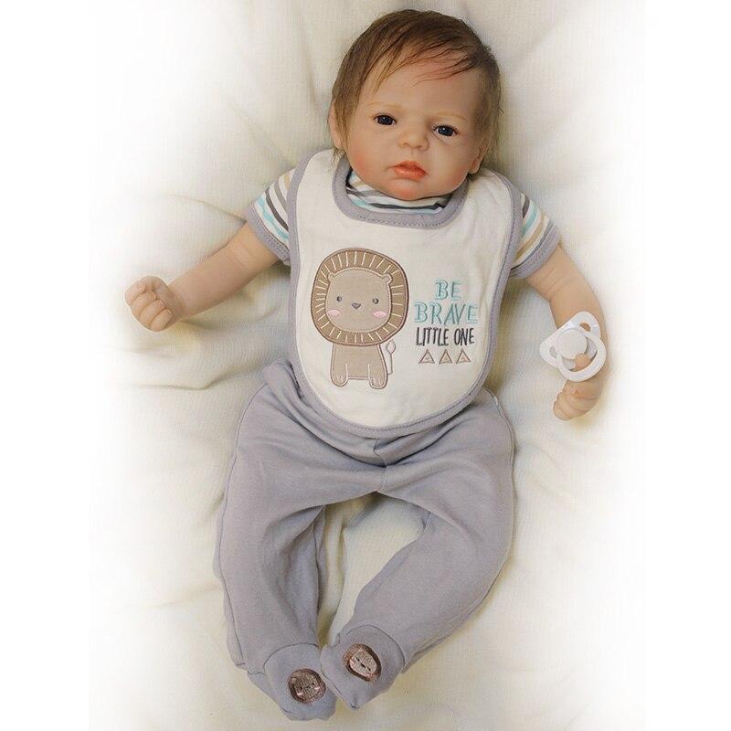 22 นิ้วตุ๊กตาทารกซิลิโคน Reborn ทารกตุ๊กตาทารกแรกเกิดของเล่นเด็กตุ๊กตา Handmade เด็กวัยหัดเดินตุ๊กตาเสื้อผ้าของขวัญเด็ก-ใน ตุ๊กตา จาก ของเล่นและงานอดิเรก บน   2