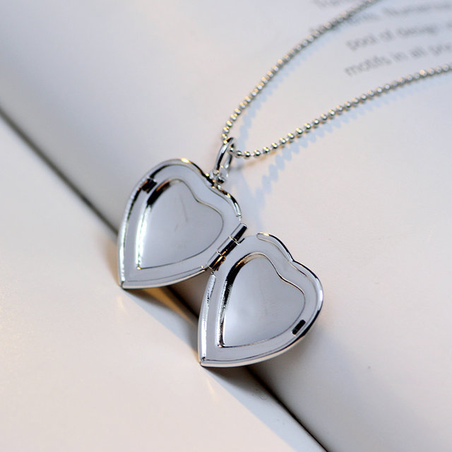 Classic Memory Photo Frame Rhinestone Crystal Heart Pendant Locket Necklace For Womens Jewellery Fashion Necklaces Jewelry 8
