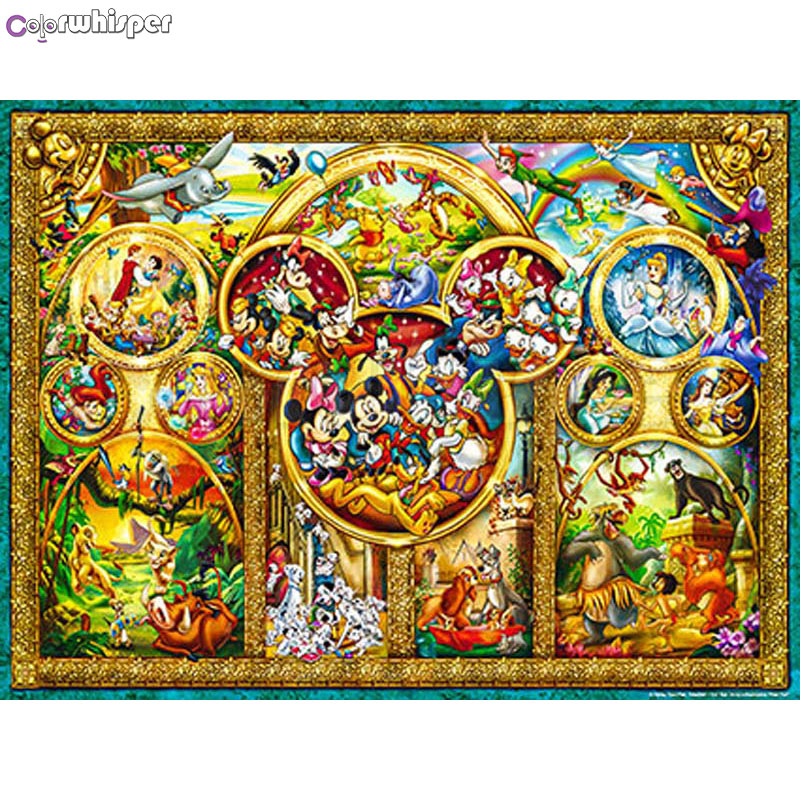 ColorWhisper Daimond Painting Full Square/ Round Princess Cartoon Animal Diamond Rhinestone Crystal Cross Stitch Mosaic 751DPColorWhisper Daimond Painting Full Square/ Round Princess Cartoon Animal Diamond Rhinestone Crystal Cross Stitch Mosaic 751DP