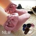 Одна пара Сладкие девушки дети оборками атласные кружева хлопчатобумажные носки принцесса Кружева лук Мягкая отделка малыш короткие Носки Высокого качество