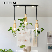 BOTIMI Modern E27 Pendant Lights For Dining Room Designers Pendant Lamp Decor Hanging Lamp DIY Lighting Order Comes Witout Plant стоимость