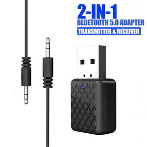 Bluetooth 5.0 Audio Receiver Transmitter adapter 3.5mm AUX Jack Stereo Bluetooth Transmitter For TV PC Car USB Wireless Adapter