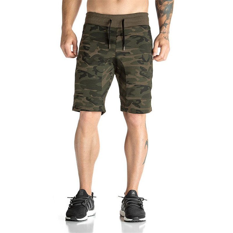 Mens Fitness Bodybuilding camouflage Brand durable Sweatpants gyms short pants for men Summer Fashion leisure Joggers