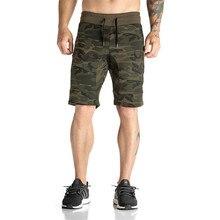 Мужские Фитнес Бодибилдинг камуфляж Бренд Прочный штаны тренажерные залы укороченные штаны для мужчин Летняя мода досуг Joggers