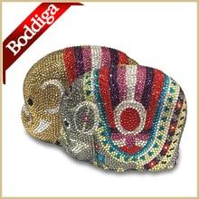 Luxury Crystal Evening font b Clutch b font Bag for Women bolsas con pedreria Golden Multicolor