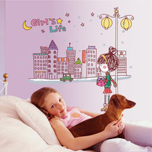 Top Cartoon Abstract Decal Sticker Lovely Wall Stickers for Kids Room Home Decor Bedding Wallpaper
