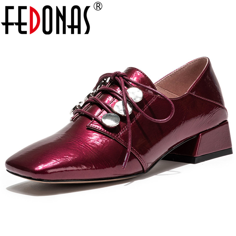FEDONAS Fashion Sexy Women Thick Heels Corss-tied Spring Summer Ladies Shoes Woman Punk Rivets Party Dancing Basic Pumps Shoes FEDONAS Fashion Sexy Women Thick Heels Corss-tied Spring Summer Ladies Shoes Woman Punk Rivets Party Dancing Basic Pumps Shoes