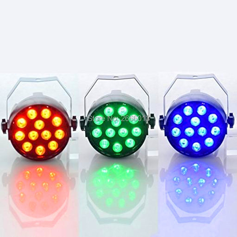 3pcs/lot 12 LED RGB 3in1 LED stage Light Mixing color Led Par DMX512 Par Light Dj Lighting for Party Disco Christmas party lamps 8pcs lot 24x18w led par light rgb par64 dmx par stage lighting