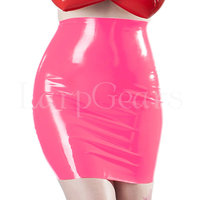 New fashion sexy women latex skirt 100% natural rubber fetish mini skirts exotic apparel costumes