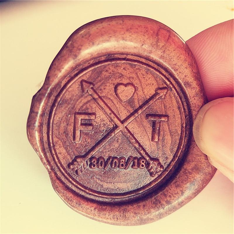 цена на Custom arrows and initials Wax Seal Stamp/save the date monogram stamp/Custom wedding seals/wedding invitation seal/custom logo