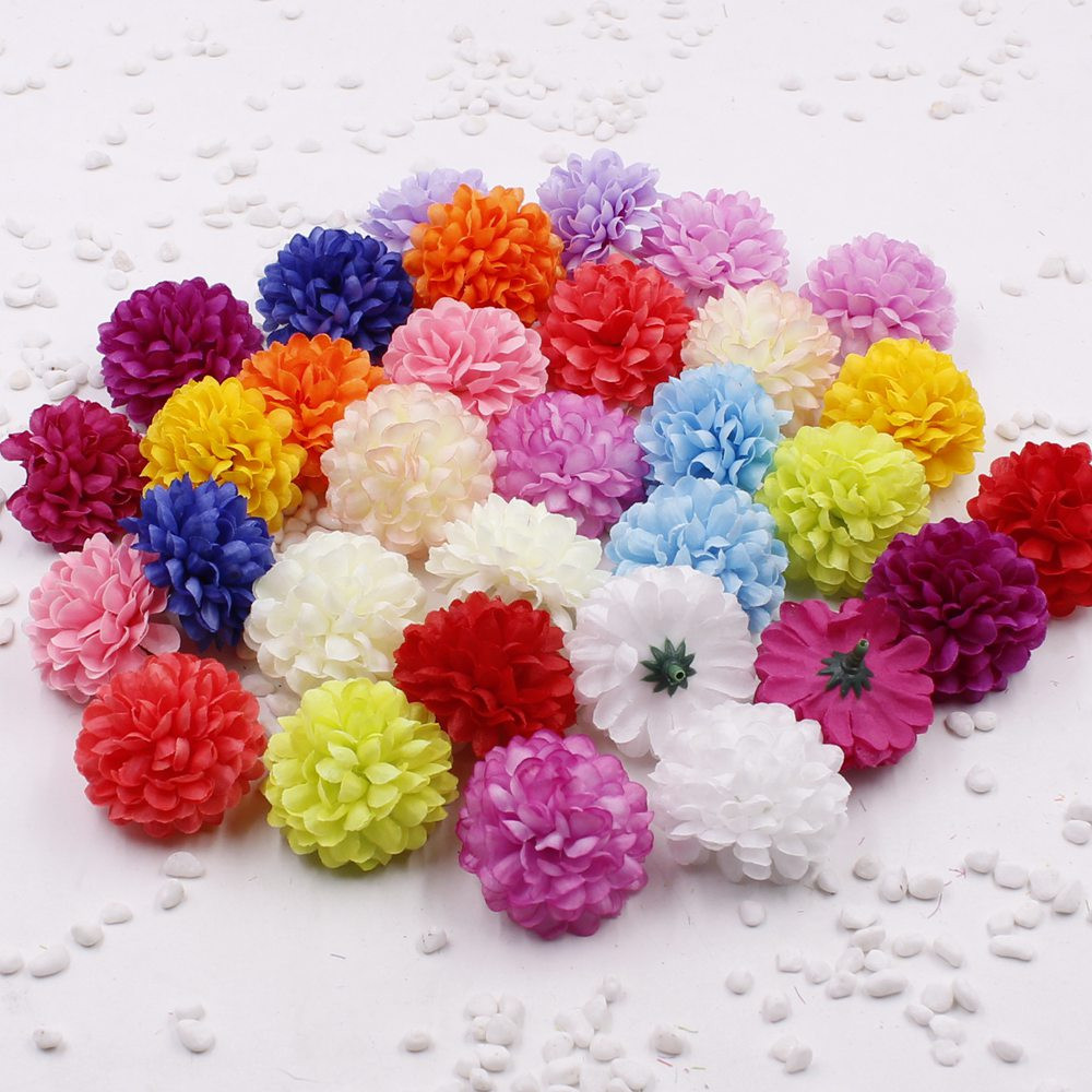 5pcs Chrysanthemum Head Artificial Daisy Handicraft Diy Wreath Bride