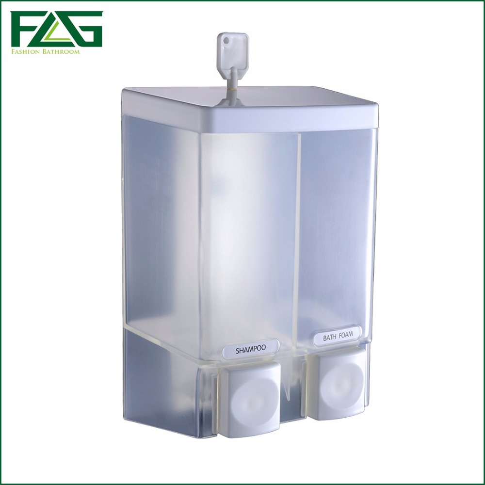 Online buy wholesale chrome wall mounted soap dispenser from china chrome wall mounted soap - Wall mounted shampoo and conditioner dispenser ...
