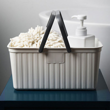 Portable Bath Basket Bathroom Shower Storage Plastic For Clothes Gel organizer Container