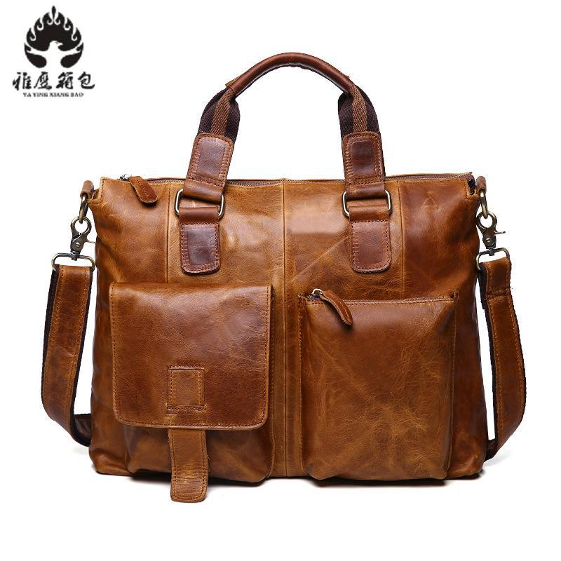 Brand Leather Men Bag Casual Business Genuine Leather Mens Messenger Bag Fashion Men's Crossbody Bag Bolsas Male new casual business leather mens messenger bag hot sell famous brand design leather men bag vintage fashion mens cross body bag