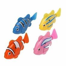 1PCS Random Color Fish Electric Toy Pet Fish With Aquatic Gift for Kids Children Activated Robotic Fish can Swims(China)