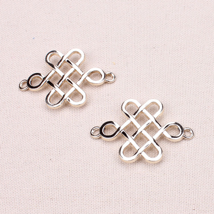 Leewince Custom Wooden Jewelry Makeup Organizer E0 E1 Mdf: ⑤10pcs/lot Metal Charms Gold ③ Plated Plated Chinese Knot