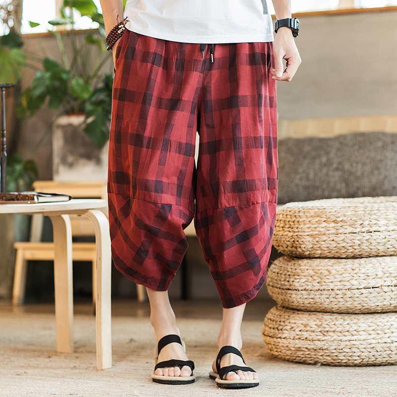 2018 Recommend new listing casual Fashion National Style Beach Pants You Seven Part Cotton Sandy Limit hip hop The Hot M-5XL