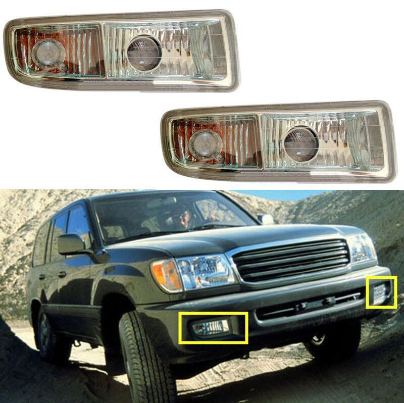 Автомобиль стиль 2шт передний бампер Противотуманные фары противотуманные на Lexus LX470 1998-2008 противотуманные фары,Галогеновые