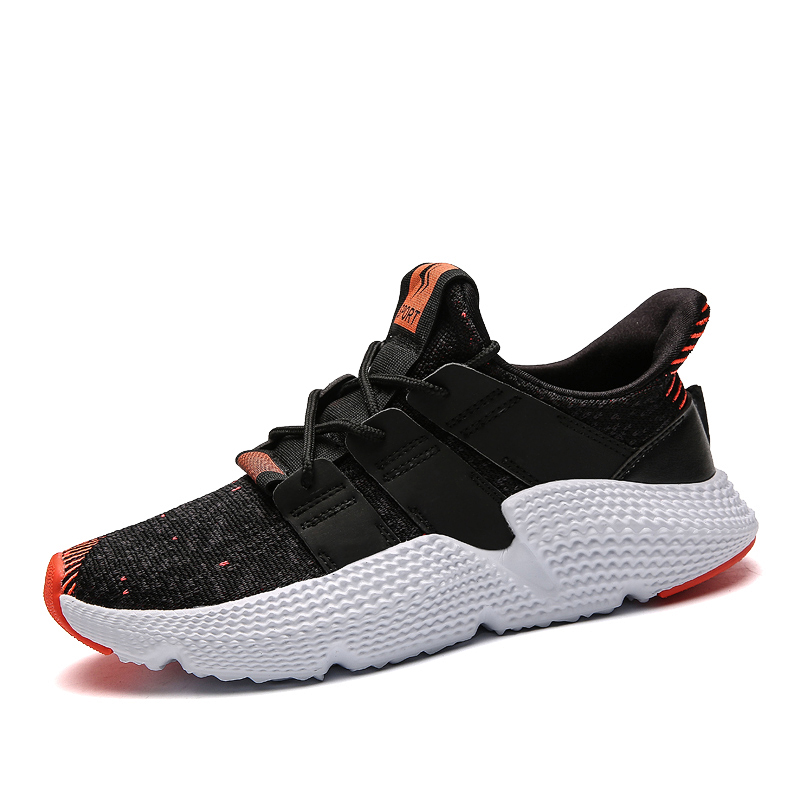 Fashion Mens Coconut Shoes Casual Sneakers Black Grey Flying Weavers Breathable