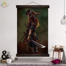 Last Dark Oni Samurai Modern Wall Art Print Pop Picture And Poster Frame Hanging Scroll Canvas Painting Canvas Poster Home Decor(China)