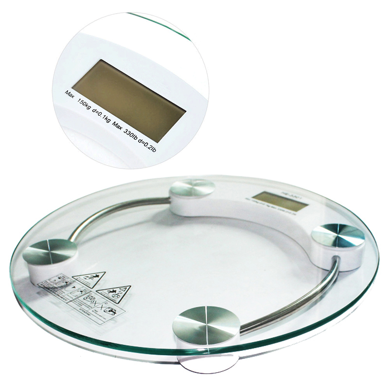 New Digital LCD Electronic Glass Bathroom Weighing Scales Weight Loss Bath Health Dropshipping mesure de poids corporel Hot