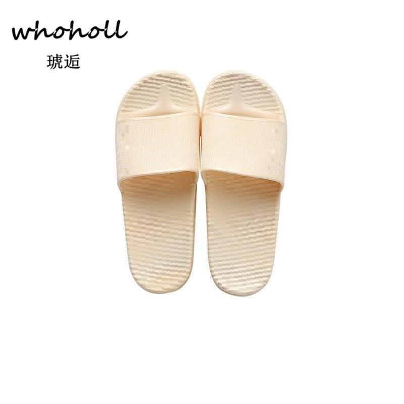 Whoholl плюс Размеры 37-45 женские туфли без задника домашние тапочки одноцветное Для женщин летние мягкие пляжные босоножки женщина ПВХ Вьетнам...