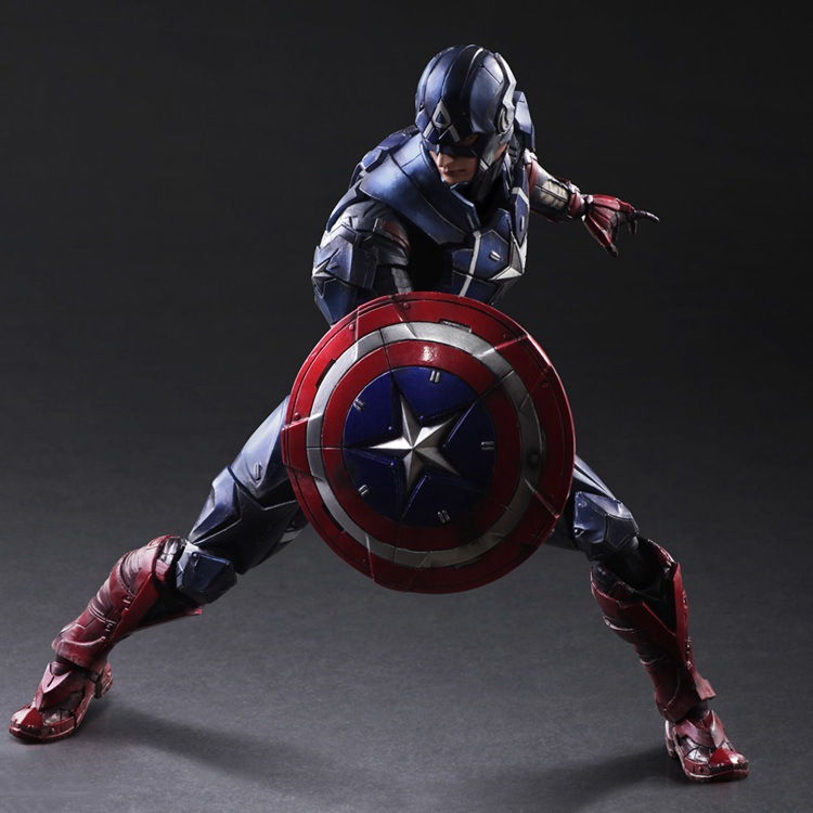 NEW hot 27cm avengers Super hero Captain America Enhanced version action figure toys doll collection Christmas toy with box new hot 18cm super hero justice league wonder woman action figure toys collection doll christmas gift with box