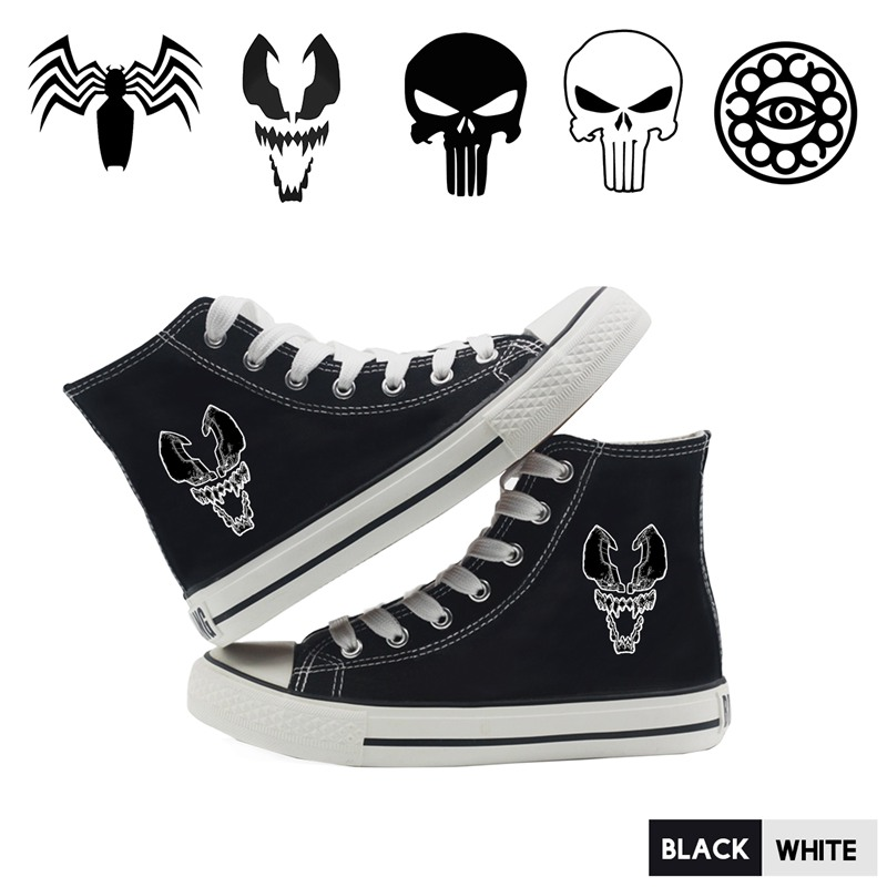 Film Punisher Venom Doctor Strange Cartoon Pictures Canvas High Top Comfortable Fashion Students High Quality Sneakers A193291