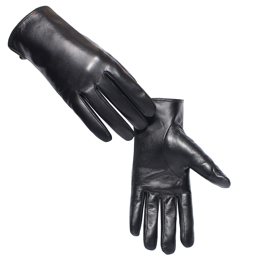 e5ba5a1fce90e 2019 High Quality Women Genuine Lambskin Leather Gloves Full Touch ...