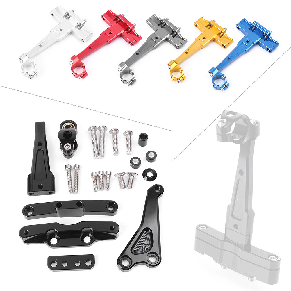 For Honda CB650F CNC Steering Damper Stabilizer Bracket Mounting Holder Set 2014 2015 2016 Aluminum Motorcycle Parts Accessories gold cnc direction steering damper stabilizer holder bracket mounting screws for kawasaki ninja zx6r zx636 2013 2016 2015 2014