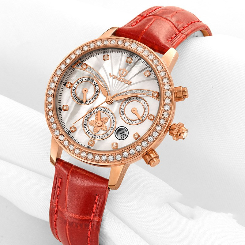 VINOCE Women Watches Top Famous Brand Luxury Casual Quartz Watch Female Ladies Watch Leather Wristwatches Relogio Feminino women watches women top famous brand luxury casual quartz watch female ladies watches women wristwatches relogio feminino