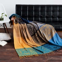 New Big Bohemian Chenille Plaids Blanket Sofa Decorative Throws Knit Chair Sofa Towel /Bed/Plane Cobertor With Tassel Tablecloth