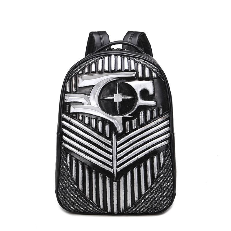 Retro Backpacks 2018 Hip-Hop PU Leather Mens Backpacks Vintage Punk Women Teenage Backpacks Casual Teenager Backpack new 2018 punk hip hop skull men backpacks waterproof pu leather rivet women backpacks casual school bags for teenagers mochilas