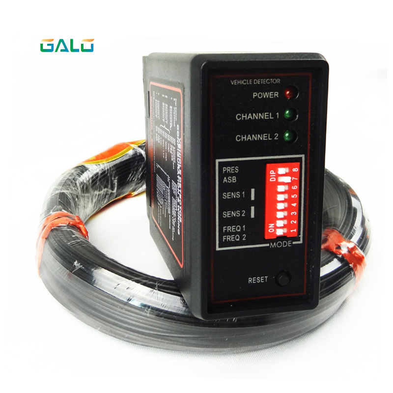 GALO Double Channel Loop Detector, Inductive Loop Safety Vehicle Detection Systems With 100m Loop Cable 0.75mm
