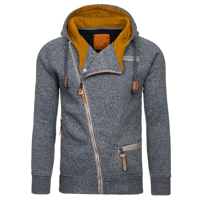ZOGAA 2019 Autumn Fleece Hoodies For Men Fashion Solid Sweatshirts Zipper Cardigan Cotton Sportswear Fitness Men Tracksuit 4XL in Hoodies amp Sweatshirts from Men 39 s Clothing