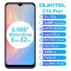 Смартфон OUKITEL C15 Pro + 6,088 дюйма 19:9, Android 9,0, 3 ГБ 32 ГБ, MT6761 Waterdrop, 4G, сканер отпечатка пальца, распознавание лица, 5g, Wi-Fi