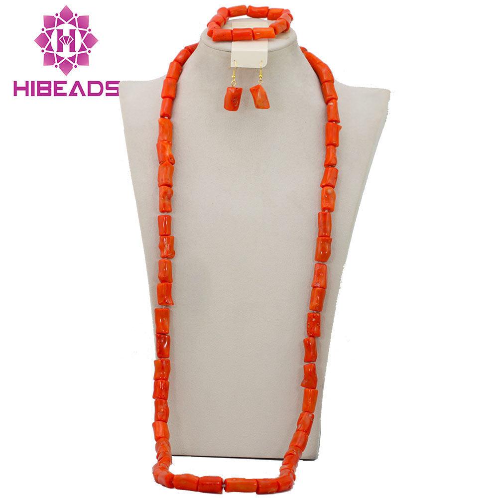 Free Shipping!2016 New African Longest Coral Beads Jewelry Set For Men Nigerian Wedding African Costume Jewelry Set CJ406Free Shipping!2016 New African Longest Coral Beads Jewelry Set For Men Nigerian Wedding African Costume Jewelry Set CJ406