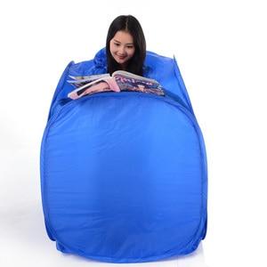 Image 2 - أزرق اللون المحمولة قابلة للطي صندوق ساونا البخار Saune الجسم