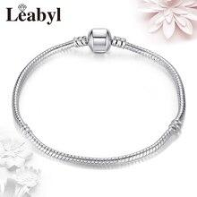 2PCS/LOT Antique Silver Pandora Basic Bracelets & Bangles Charm Bead Chain fit Original Bracelet for Women Jewelry Pulseira Gift