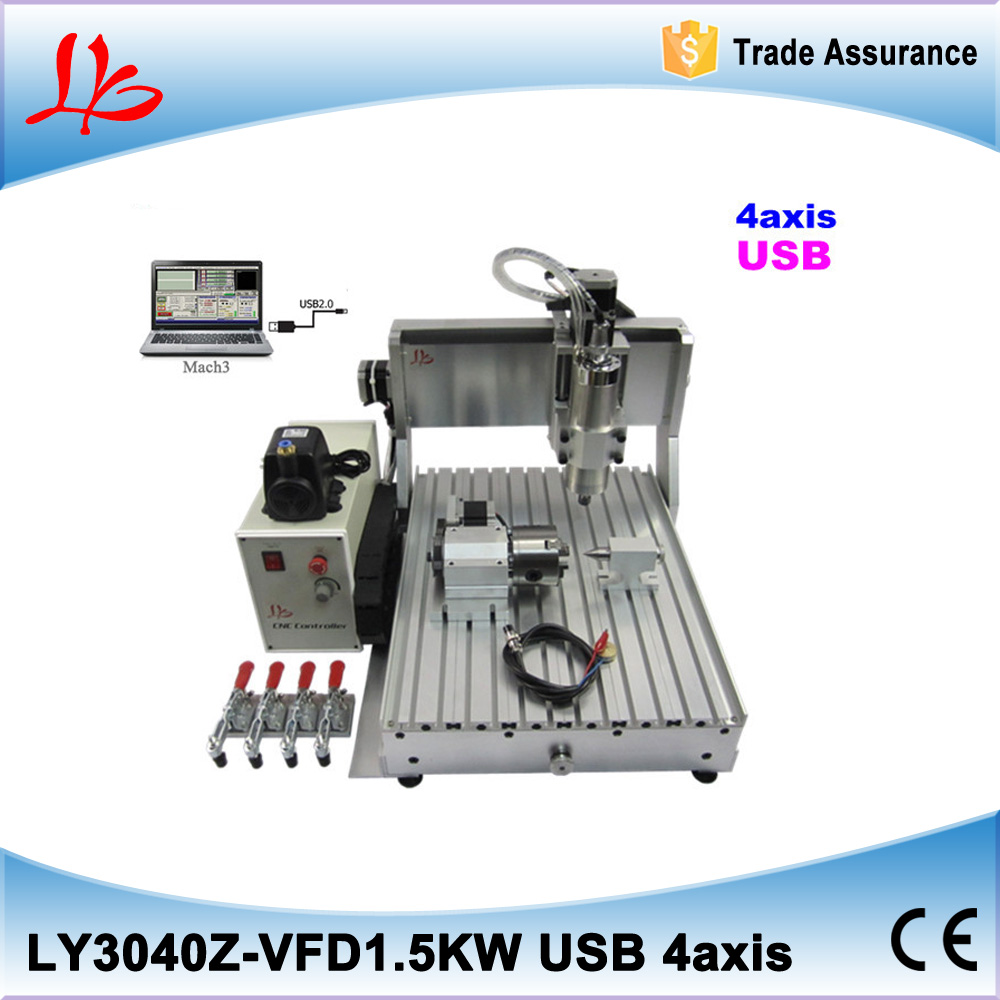 USB port CNC milling machine CNC 3040 Z-VFD 4 axis limit switch 1.5KW VFD water cooling spindle cnc engraver usb port cnc milling machine cnc 3040 z vfd 4 axis limit switch 1 5kw vfd water cooling spindle cnc engraver