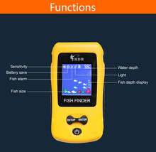 Free Shipping! Brand New KDR Colorful Wireless Fish Finder Sonar Sensor Transducer Depth Echo Sounder Recharged Battery