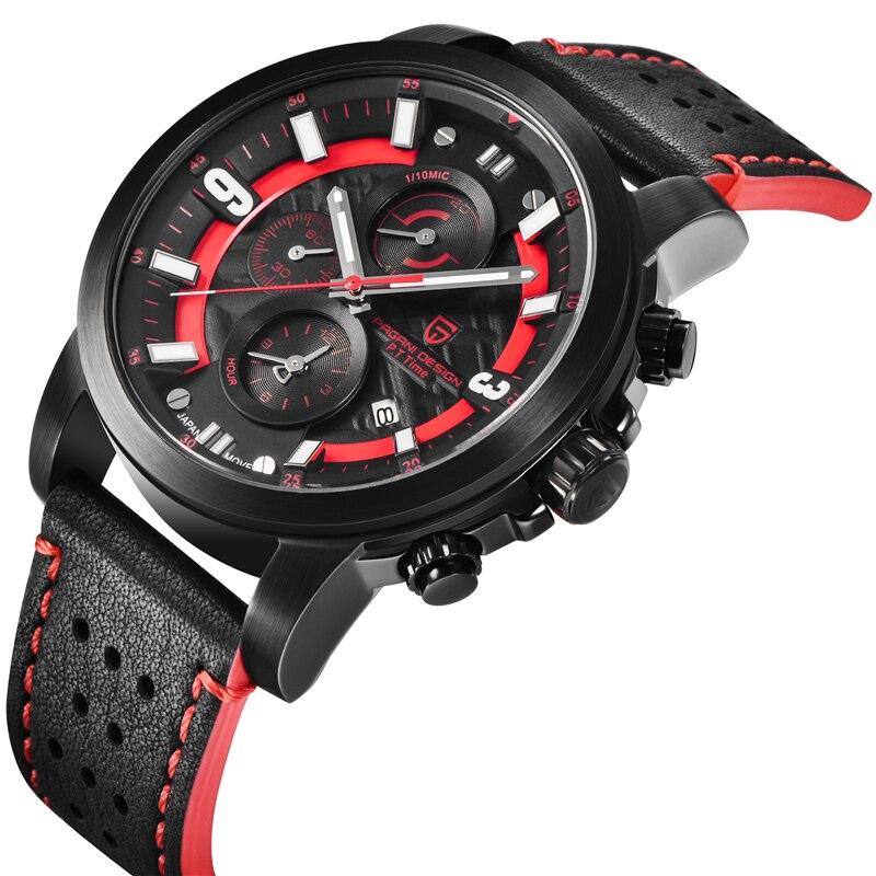 Relogio Masculino PAGANI DESIGN hommes montres haut de gamme de luxe étanche militaire chronographe Quartz montre bracelet horloge noir homme - 2