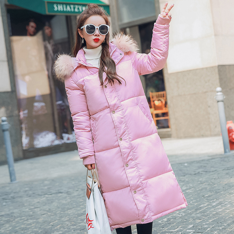 2017 New Fashion Winter Parkas Hooded  Fur Collar Female Long Jacket  Loose Warm Cotton Padded Thick Parkas Female Outwears big fur 2017 new fashion parkas winter jacket hooded fur collar warm cotton padded inside fur thick coat loose female outwears