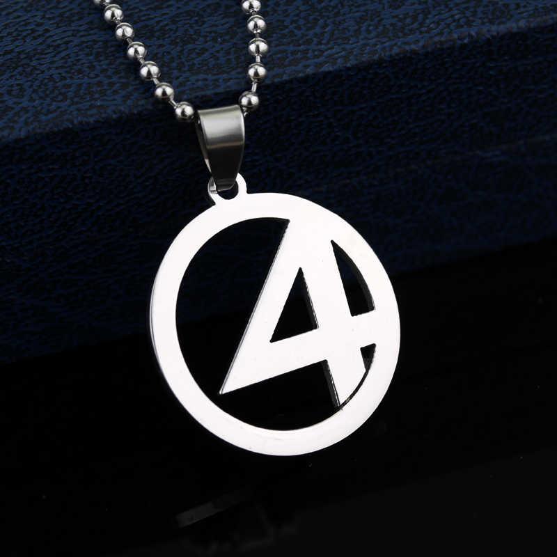 Marvel Comics Quarteto fantástico Coisa Longa Cadeia Colar de Aço Inoxidável Colar de Pingente de Super Herói Superman Chaveiro Chave Chaveiro
